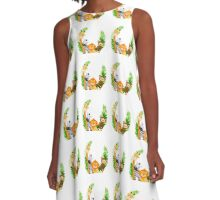Jungle Safari, Baby Animals A-Line Dress