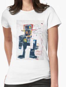 Basquiat Irony of negro policeman Womens Fitted T-Shirt