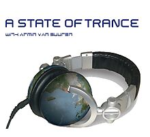 A State Of Trance World headphone Photographic Print