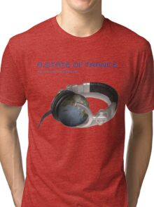 A State Of Trance World headphone Tri-blend T-Shirt
