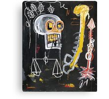 Basquiat 's ideas on Justice and huge dick Canvas Print