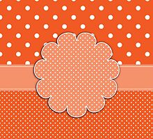 Crafty Orange/White Polka Dot Country Design by dorcas13