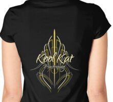 Kool Kat Pinstriping (Yellow) Women's Fitted Scoop T-Shirt