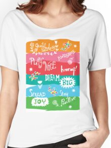 Woo Hoo Words Women's Relaxed Fit T-Shirt