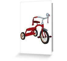vintage tricycle Greeting Card