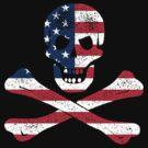 Skull and Bones American Flag Edition by LibertyManiacs