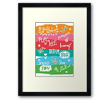 Woo Hoo Words Framed Print