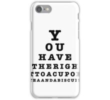 a cup of tea and a biscuit iPhone Case/Skin