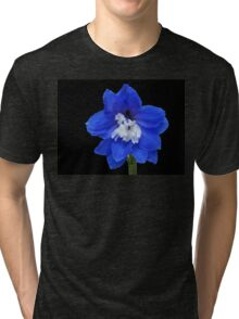 Delphinium - Nile Blue Tri-blend T-Shirt