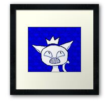 a cat into a ruler. Framed Print