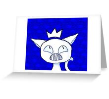 a cat into a ruler. Greeting Card