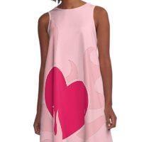pink flaming heart A-Line Dress