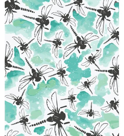 Dragonfly Handmade Print Sticker