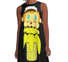 Chunky Monkey Banana Scream A-Line Dress
