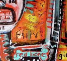 In love with Basquiat red bone wonderful Sticker