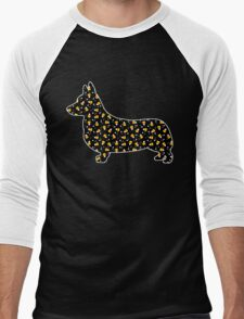Halloween Corgi Men's Baseball ¾ T-Shirt