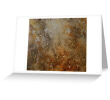 Rusty gold Greeting Card