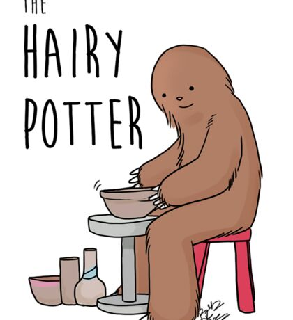 The Hairy Potter Sticker