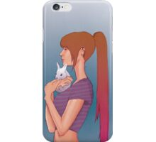Girl and rabbit iPhone Case/Skin