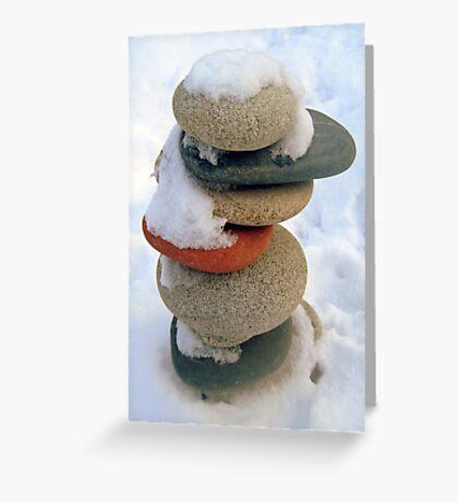 snow rock  Greeting Card