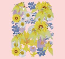 Yellow Daisy One Piece - Short Sleeve