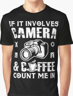 I Love Camera and Coffee Graphic T-Shirt