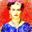 Looking for Frida Kahlo... by Madalena Lobao-Tello