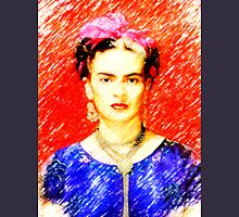 Looking for Frida Kahlo... Womens Fitted T-Shirt