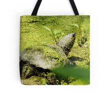 Snapping Turtle & Frog Tanning. Tote Bag