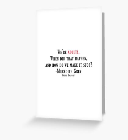 When did that happen? Greeting Card