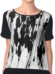 black and white abstract  Chiffon Top