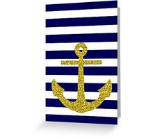 Gold Anchor Greeting Card