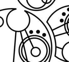 'Gallifrey Falls No More' in Gallifreyan Sticker