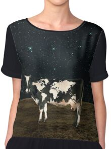 Surreal Bovine Atlas Chiffon Top