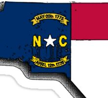 North Carolina Map With North Carolina State Flag Sticker