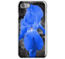 rare blue iris iPhone Case/Skin