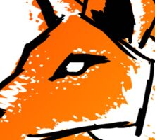 Splash Fox Sticker