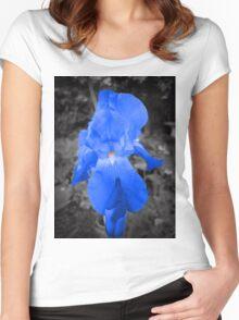 rare blue iris Women's Fitted Scoop T-Shirt