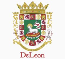 DeLeon Shield of Puerto Rico One Piece - Short Sleeve