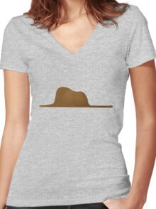 A boa constrictor and an elephant Women's Fitted V-Neck T-Shirt