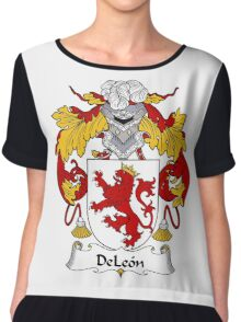 DeLeon Coat of Arms/Family Crest Chiffon Top
