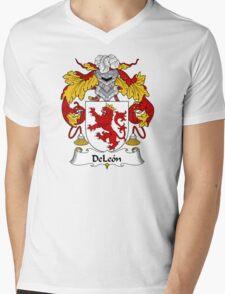 DeLeon Coat of Arms/Family Crest Mens V-Neck T-Shirt