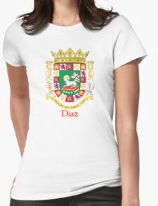 Diaz Shield of Puerto Rico Womens Fitted T-Shirt