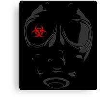 biohazard gasmask Canvas Print