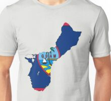 Guam Map with Guamanian Flag Unisex T-Shirt
