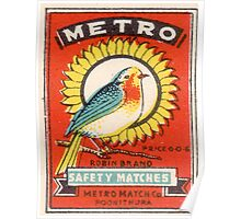 Vintage poster - Metro Matches Poster