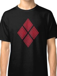 Red Diamond Patches with Inside stitching Classic T-Shirt