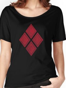 Red Diamond Patches with Inside stitching Women's Relaxed Fit T-Shirt
