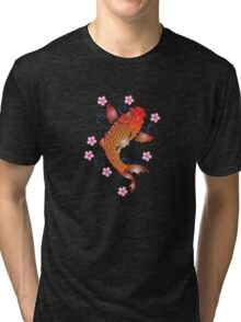 Koi of the Fire and Flower Tri-blend T-Shirt
