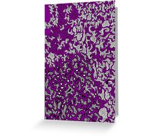 Bled Out Purple Greeting Card